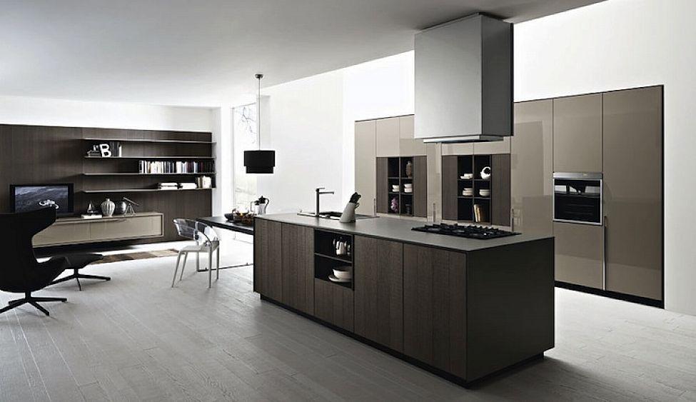 Modern italian kitchen cabinets simple design ipc445 for Italian kitchen design