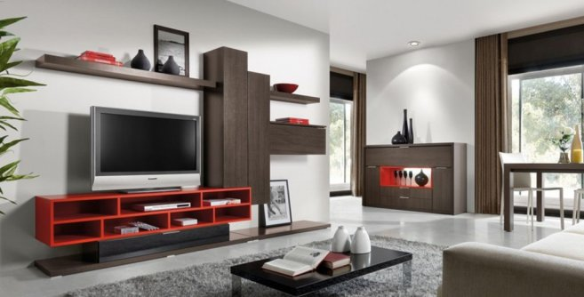Modern Living Room Decoration With Minimalist Lcd Tv ...