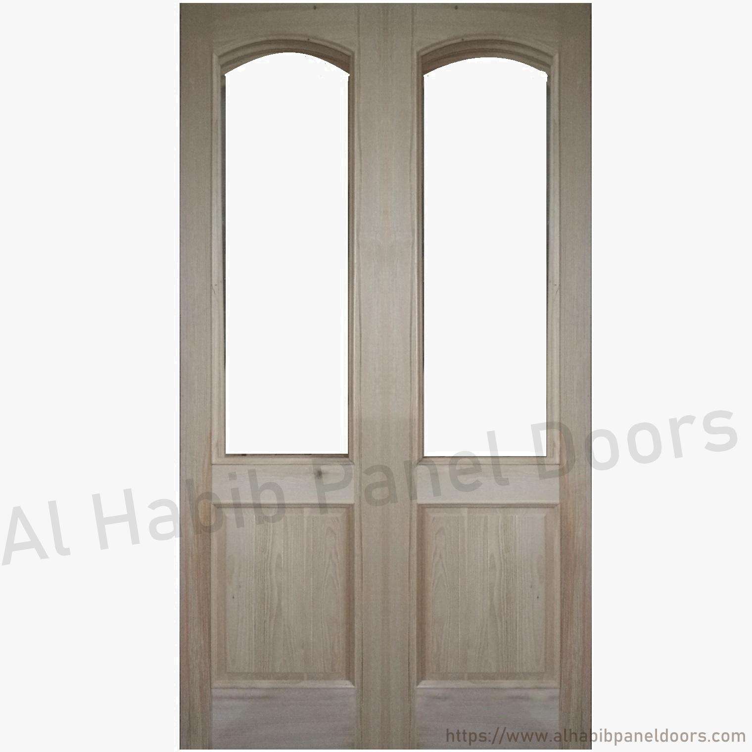 Glass Wood Door Hpd176 Panel Doors Al Habib