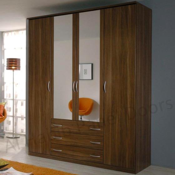 Standing Four Door Wardrobe Hpd519 Free Standing