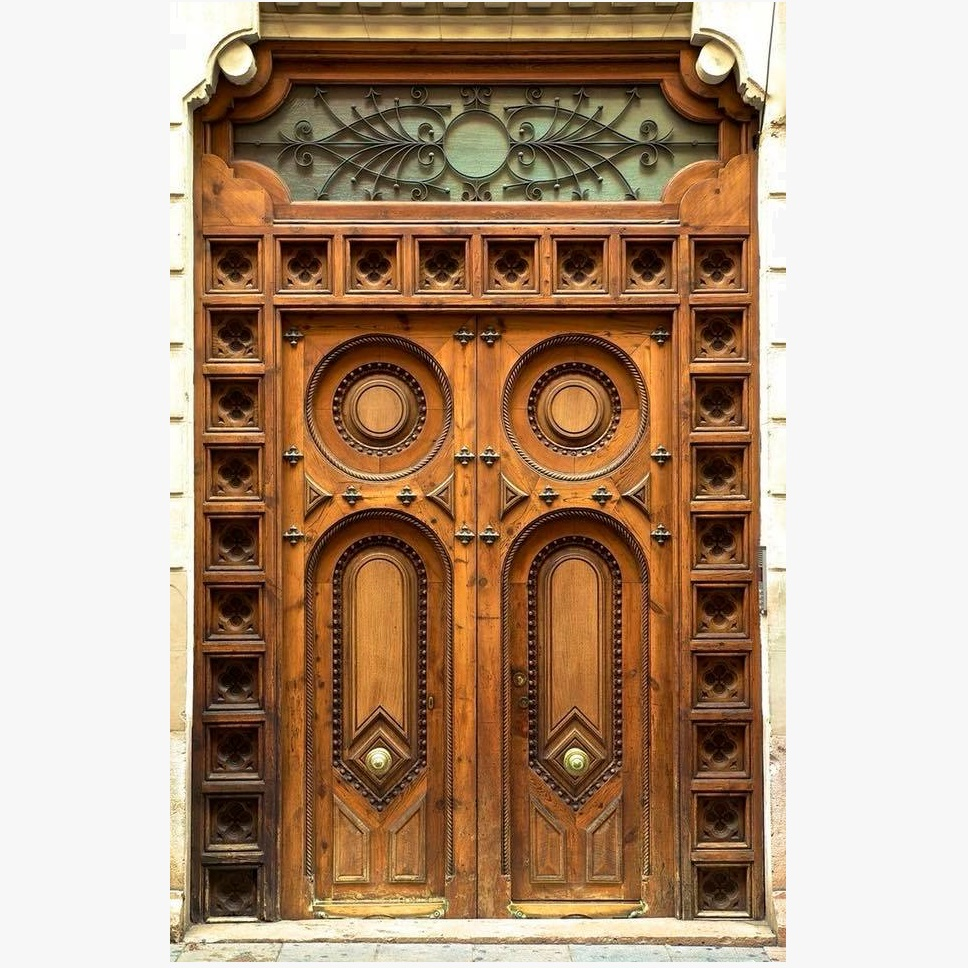 Antique Indian Style Hand Carved Door Design