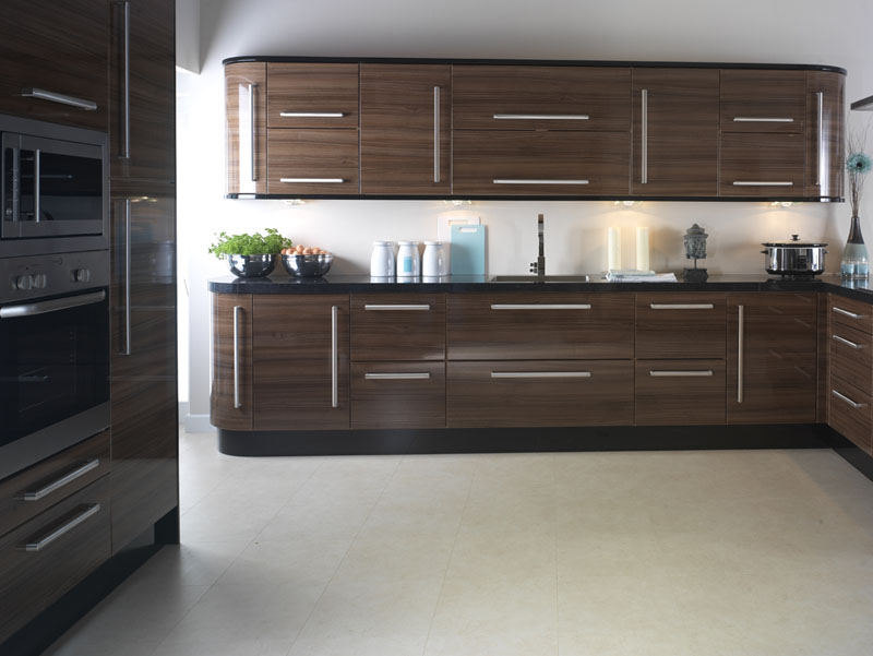 Apollo Walnut Gloss Replacement Kitchen Design
