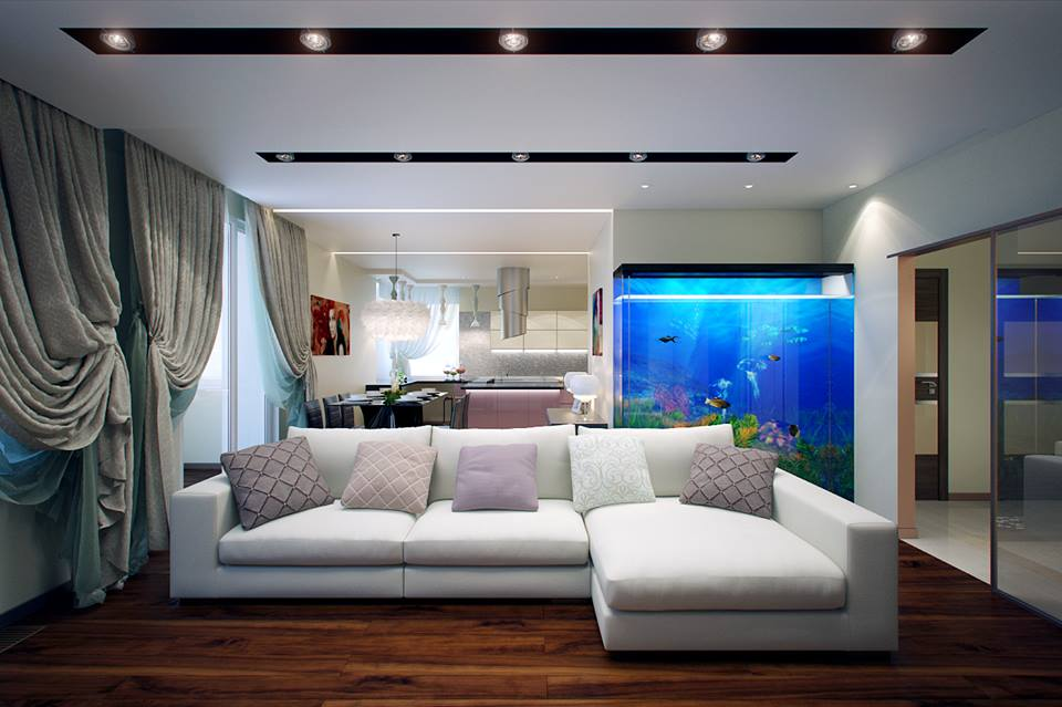 Beautiful Aquarium For Living Room