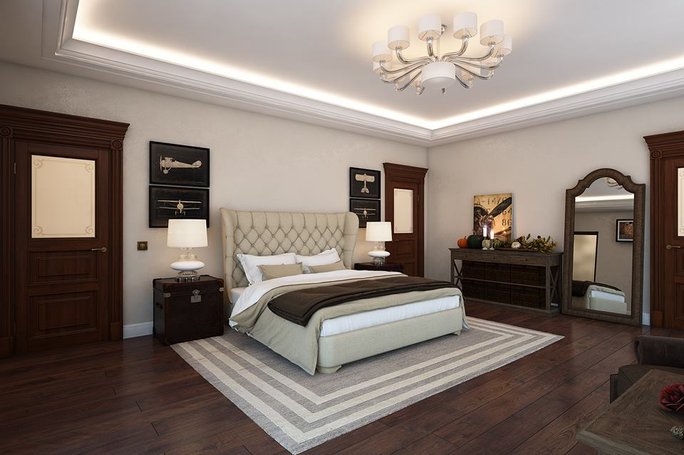 Inspirational luxurious bedroom design ipc163 luxury for Bedroom designs light