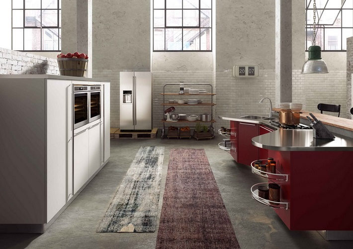 Beautiful Wine Color Kitchen
