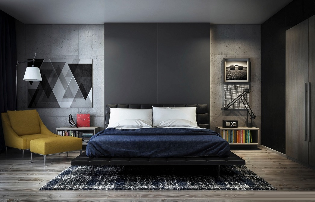 Bedroom Art And Lighting Design