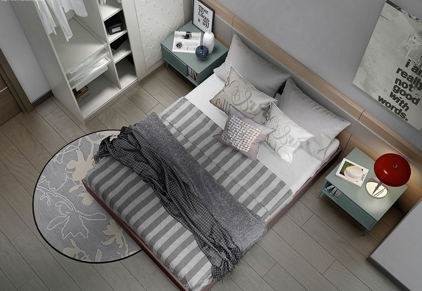 Bedroom Flooring And Rug Design 2