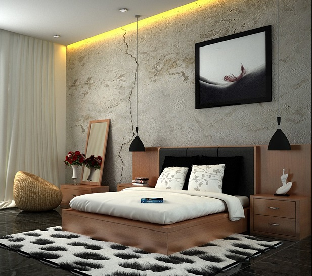 Black Brown Bedroom Scheme