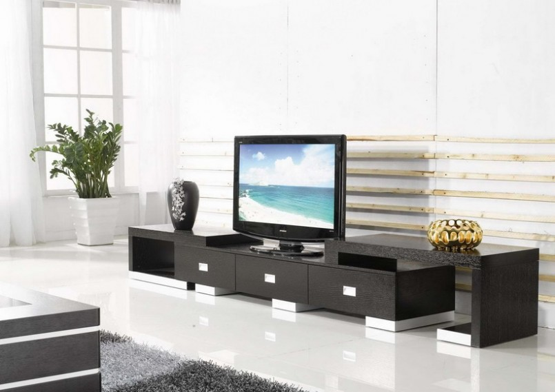 Black TV Cupboard Design For Hall · U003e Black ...