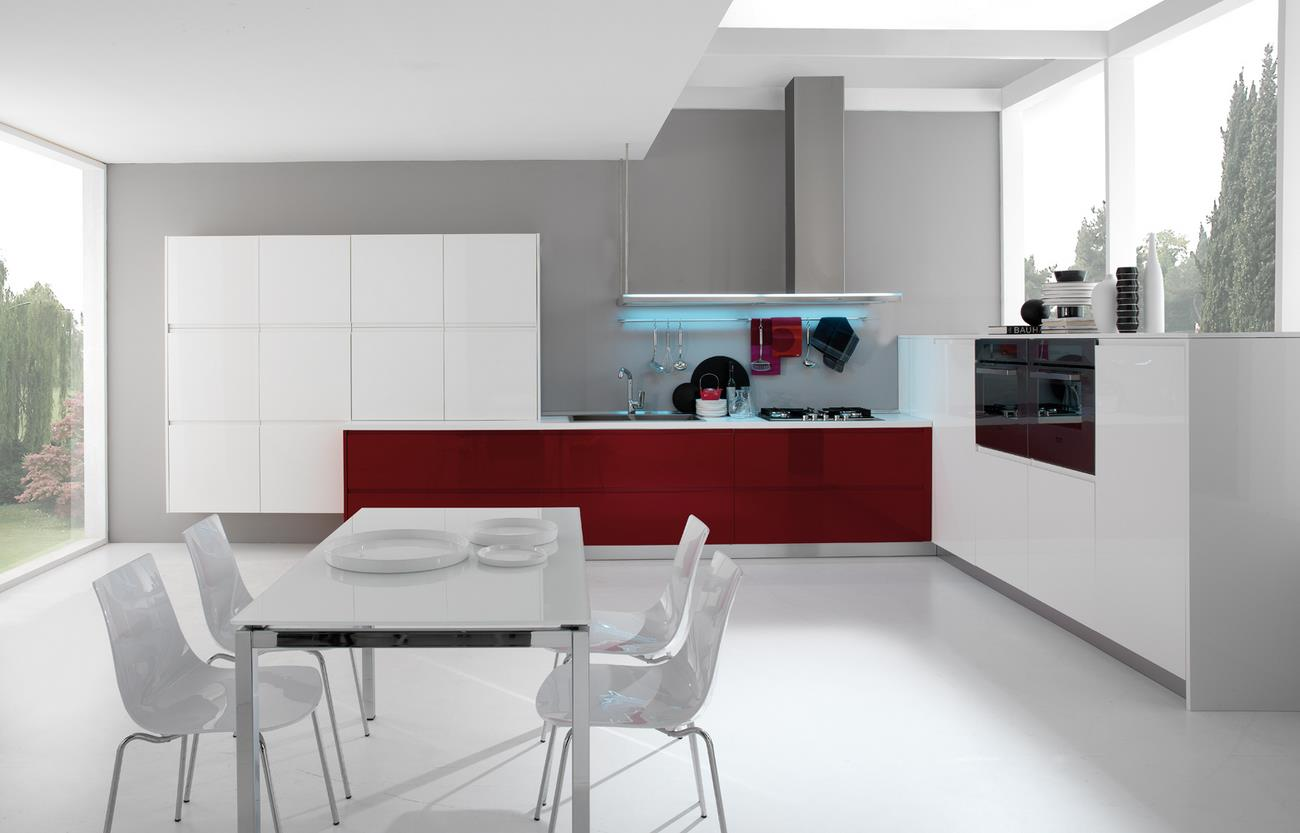 Newest Cream High Gloss Kitchen Design Ipc405 High Gloss