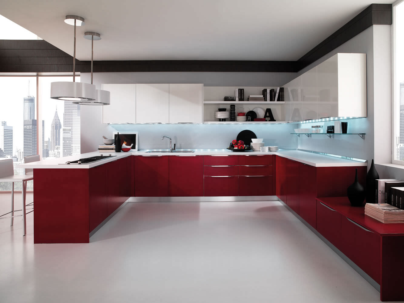 High gloss kitchen cabinet design ideas 2015 kitchen for Kitchen designs high gloss