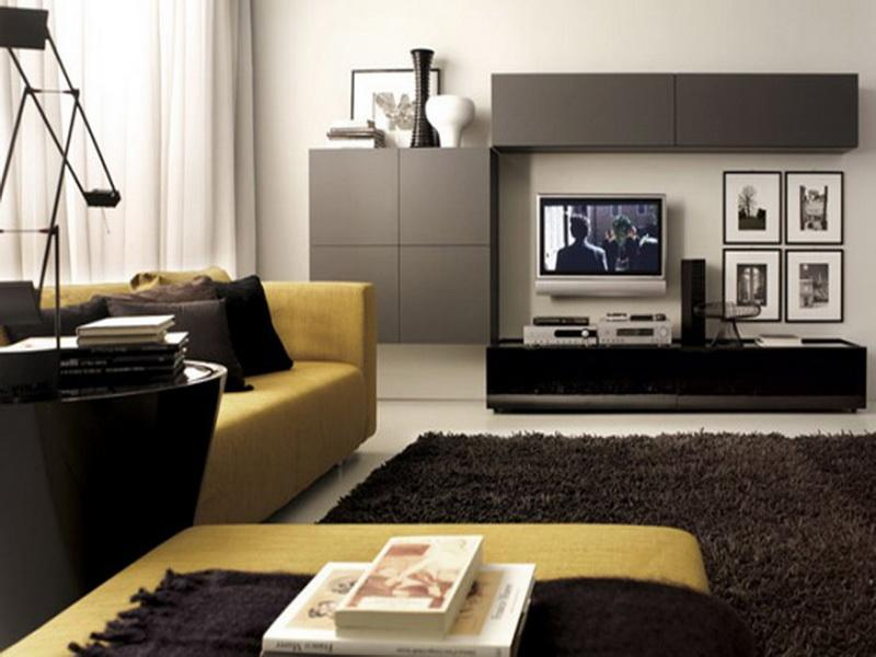 Lcd wall unit design for living room living room designs for Modern sitting room ideas