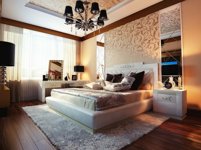 Cream Beige Bedroom Design