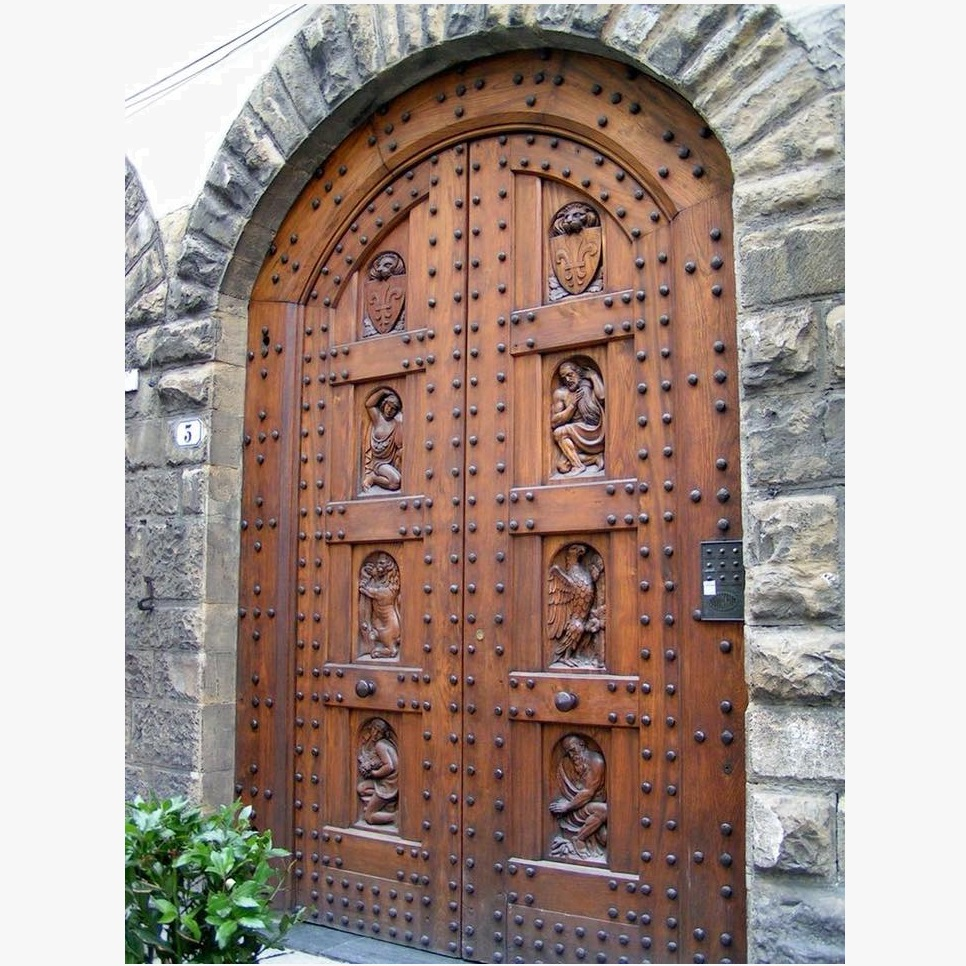 Custom Hand Carving Wood Door Design