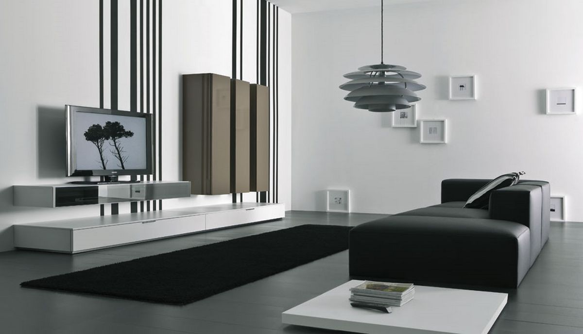 Lcd tv cabinet designs furniture designs al habib for Pictures of black and white living room designs