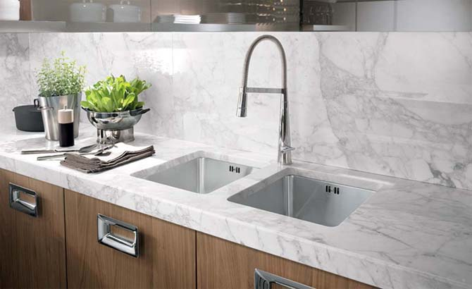 Double Kitchen SInk Design