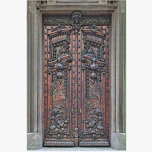 Egyptian Teak Wood Carved Door Design