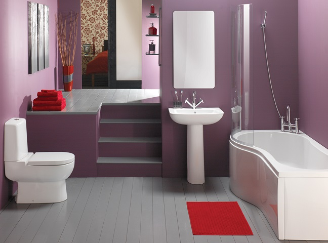 Exclusive Soft Purple Bathroom Design