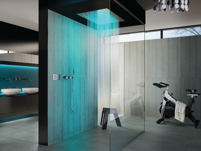 Fabulous Bathroom Waterfall LED Shower