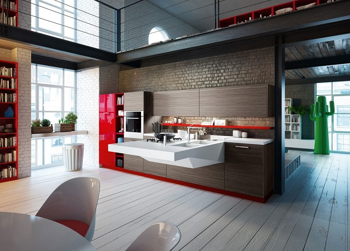 Floating Kitchen Counter