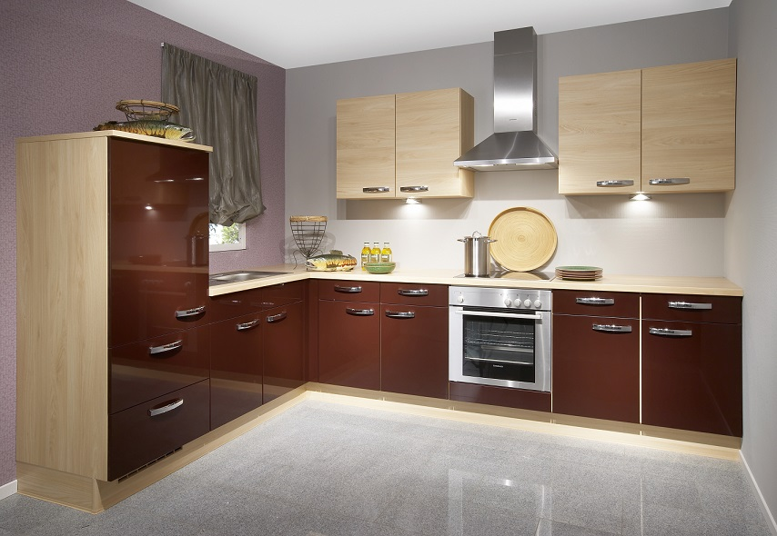 Wonderful Glossy KItchen Cabinet Design Home Interiors