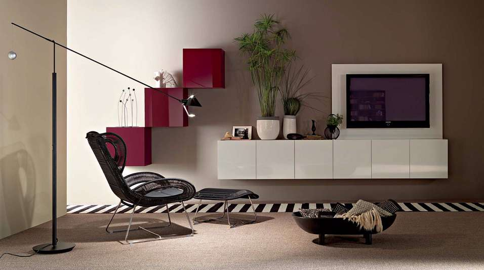 Wall Unit Design Images : Gorgeous lcd wall furniture design ipc modern