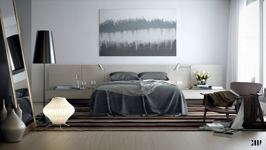 Grey Brown Bedroom Scheme