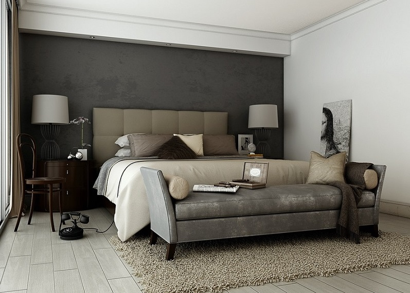 Grey Brown Sophisticated Bedroom