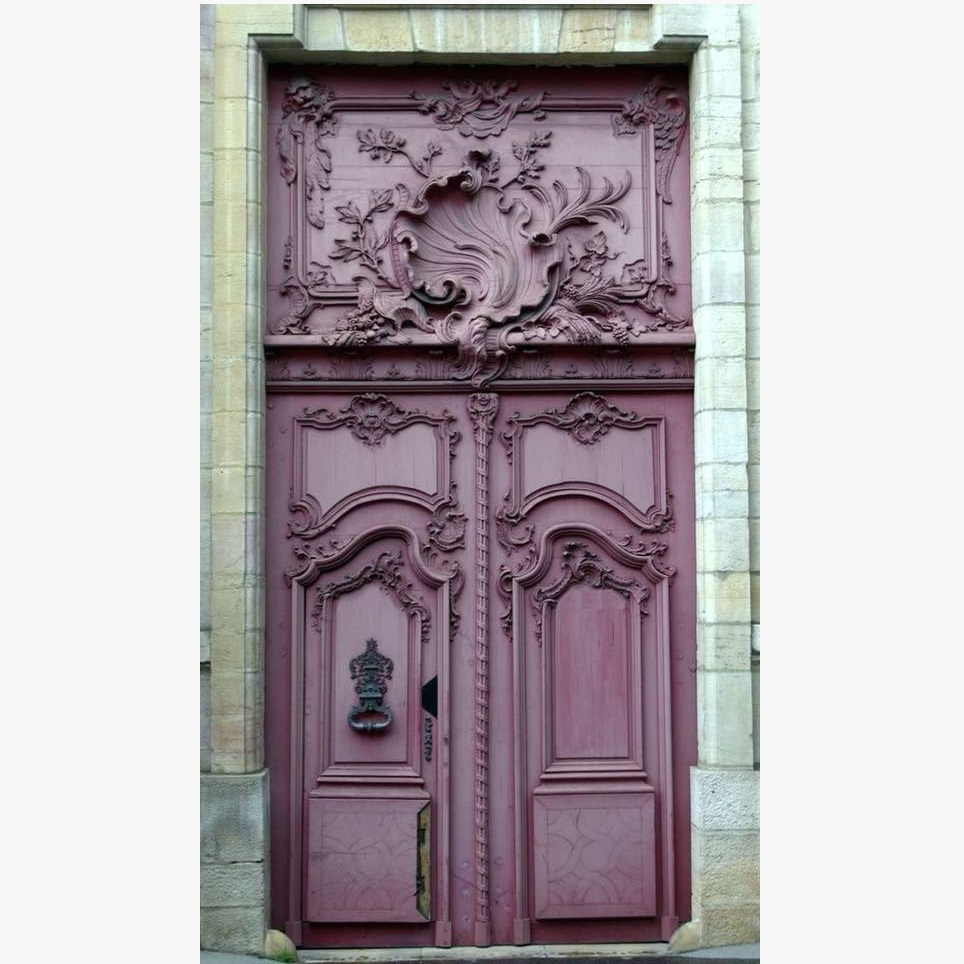 Hand Carved Double Door Design