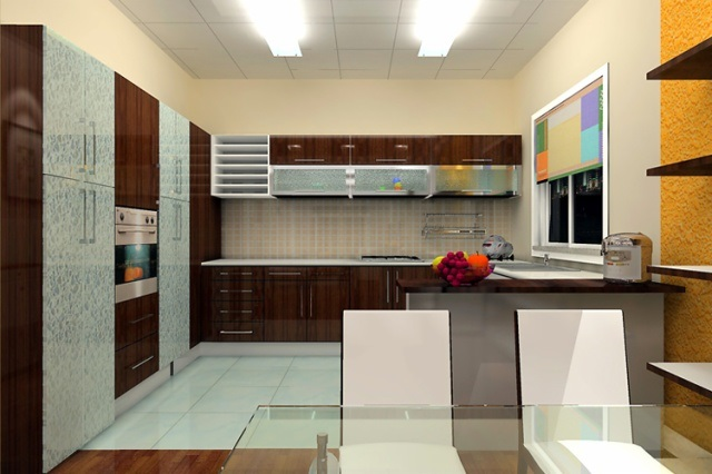 High Glossy UV Kitchen Cabi.