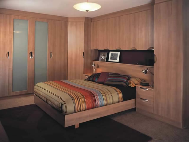 Ideal fitted bedroom attach wardrobe design ipc391 for Fitted bedroom ideas for small rooms