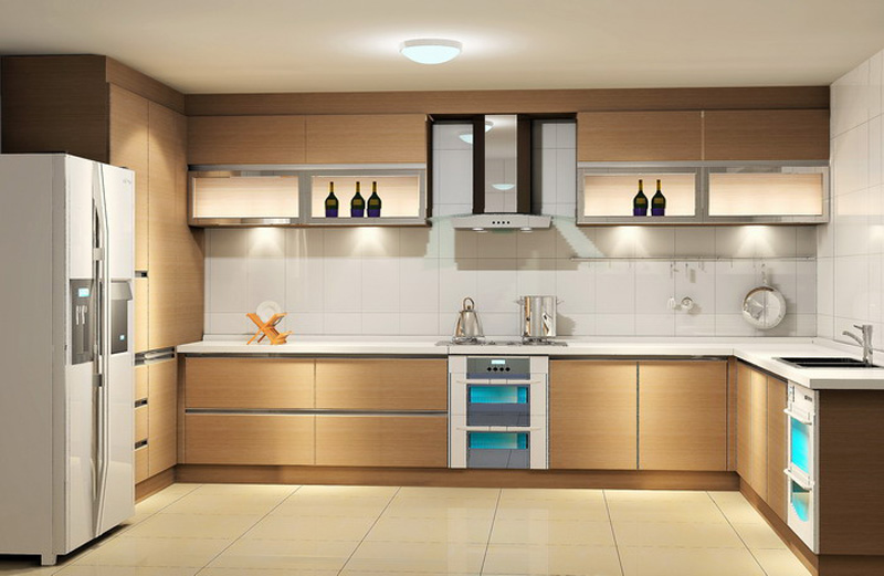 Nice Light Coloured Contemporary Kitchen Cabinets