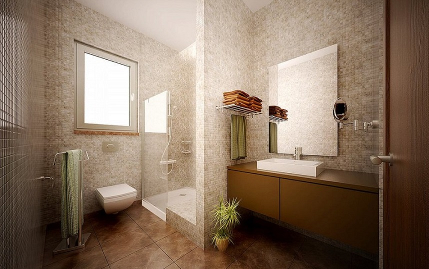 Luxurious Brown Bathroom Design