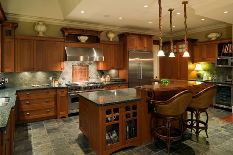 Luxurious Traditional Cozy Kitchen Design