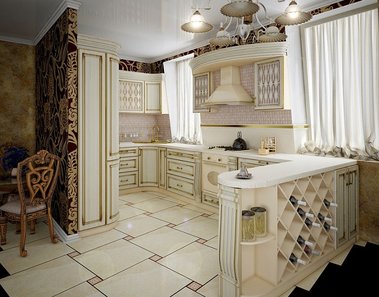Luxurious Traditional Kitchen Interior Design