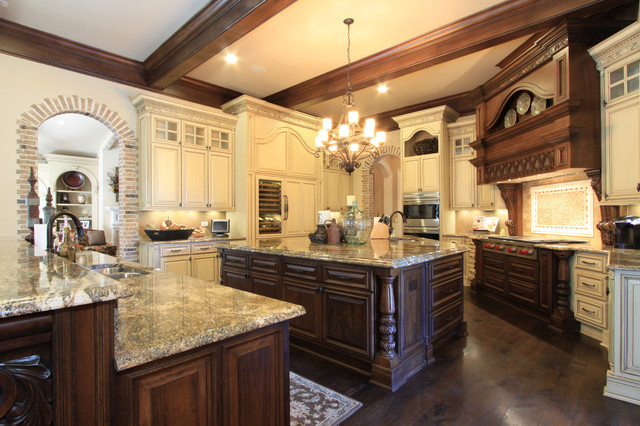 Luxury custom kitchen design ipc311 luxurious traditional kitchen design al habib panel doors Custom luxury home design ideas