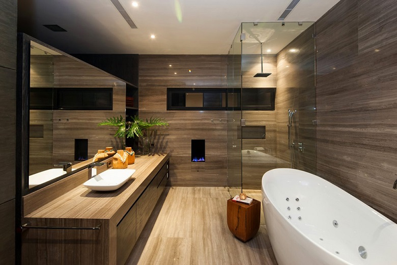 Luxury Interior Brown Bathroom Designs Mexico