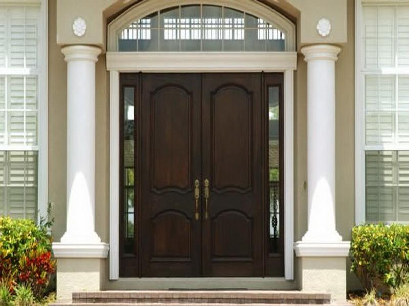 Modern Front Door With Side Panel