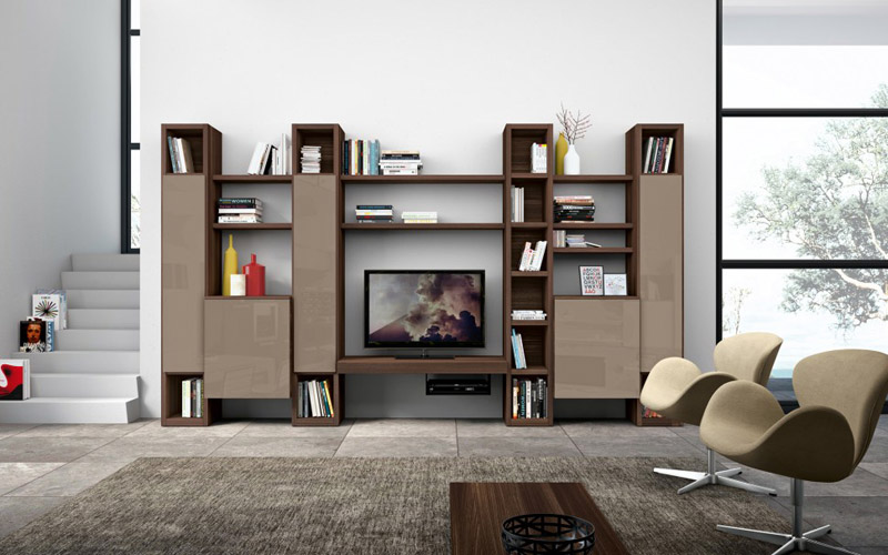 Living Room Modern Lcd Wall Unit Design