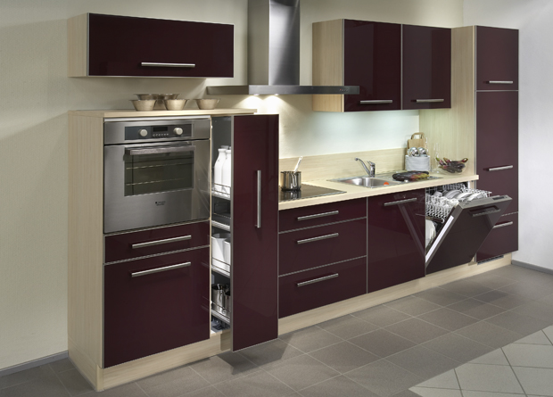 High gloss kitchen cabinet design ideas 2015 kitchen designs al habib panel doors - Modern kitchen ideas with brown kitchen cabinets ...