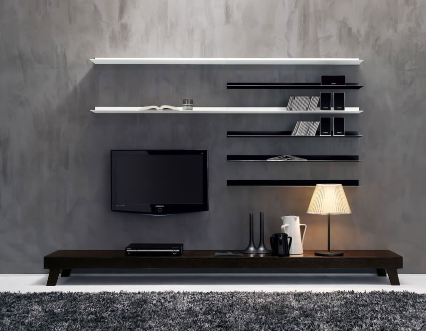 Modernist wall tv cabinet decorating ideas ipc371 modern for Modern tv unit design ideas