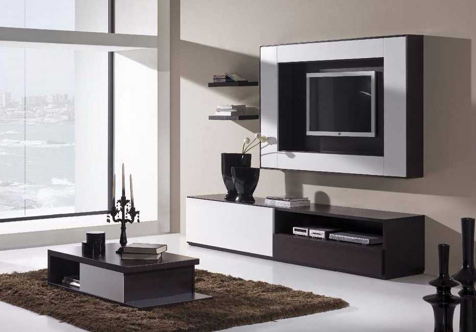 Tv Stand Designs On Wall : Modern lcd wall unit desiign furniture designs al