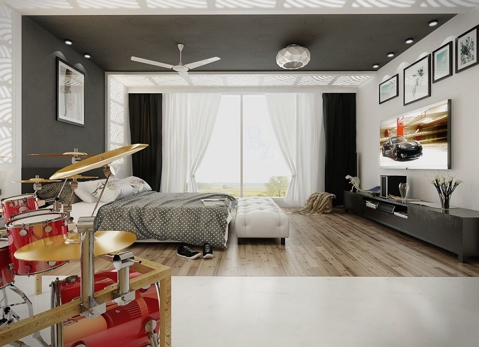 Music Theme Bedroom Design 2