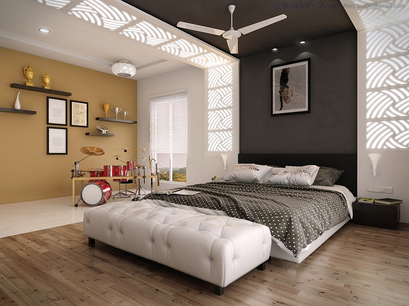 Music theme bedroom design ipc256 newest bedroom design for Bedroom ideas in pakistan