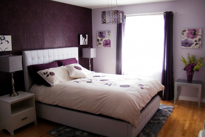 Newest Purple Bedroom Design