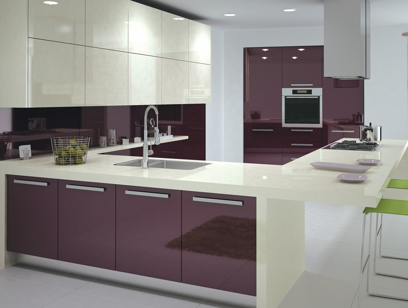 white shiny kitchen cabinets purple high glossy kitchen design ipc408 high gloss 29137