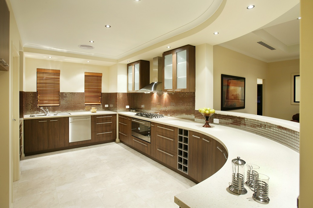 Round Shape Modern Kitchen .