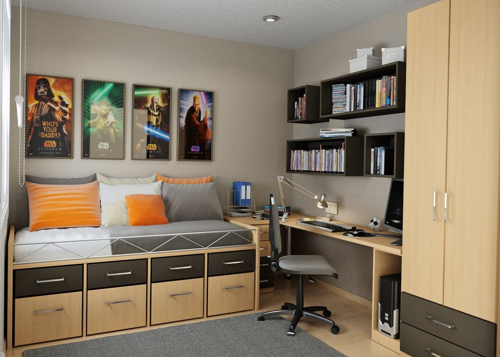 Simple Space Saving Room Design