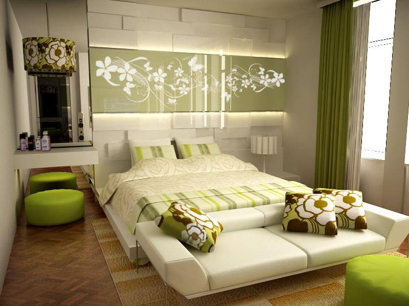 Double bed interior design for small room ipc140 small for Small double bedroom decorating ideas