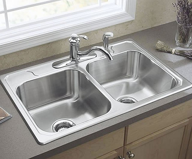 Awesome Stainless Steel Bowl Sink D.... Terrific White Kitchen Sink Design Part 29